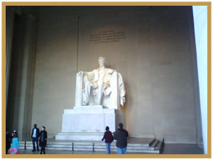 Lincoln Memorial with Visitors